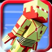 Block Iron Robot 3D logo