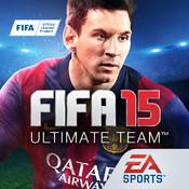 FIFA 15 Ultimate Team by EA SPORTS logo
