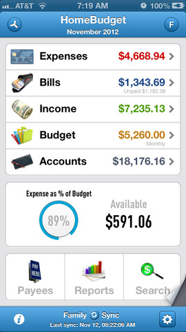 HomeBudget with Sync 2